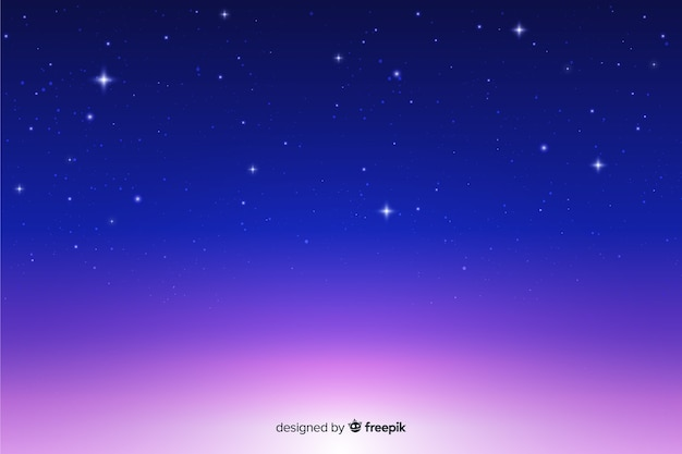 Hermoso fondo degradado de noche estrellada