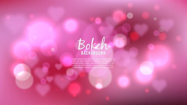 Hermoso fondo con efecto de luces bokeh