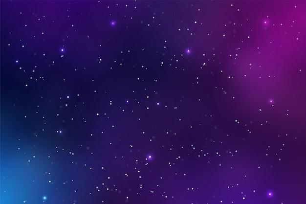 Hermoso fondo espacial lleno de polvo y estrellas brillantes en la galaxia.