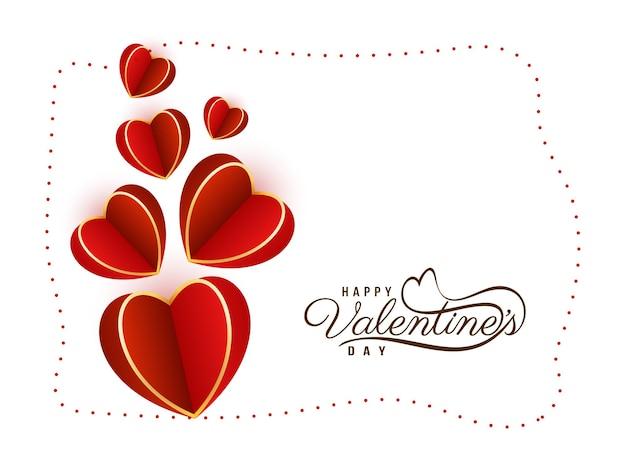 Hermoso fondo feliz día de san valentín