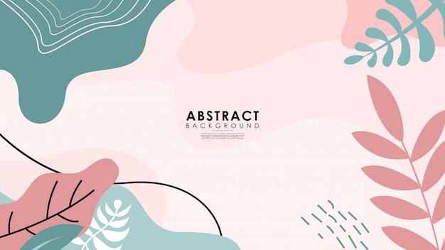 Hermoso fondo floral abstracto colorido