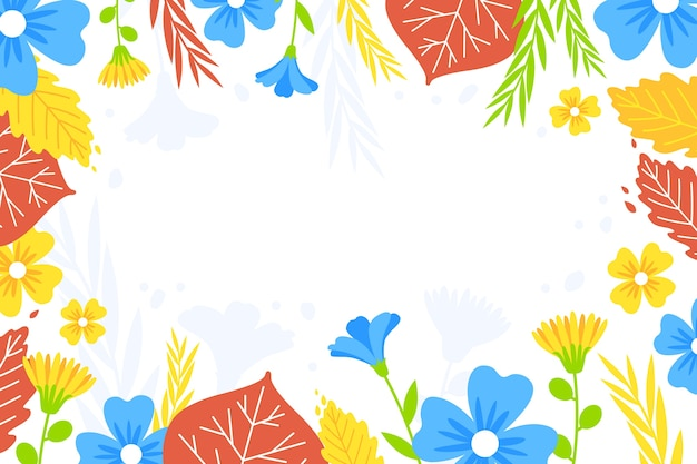 Hermoso fondo floral abstracto
