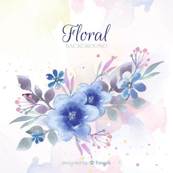 Hermoso fondo floral de acuarela
