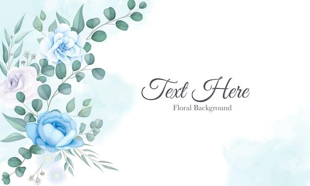 Hermoso fondo floral con adornos florales suaves