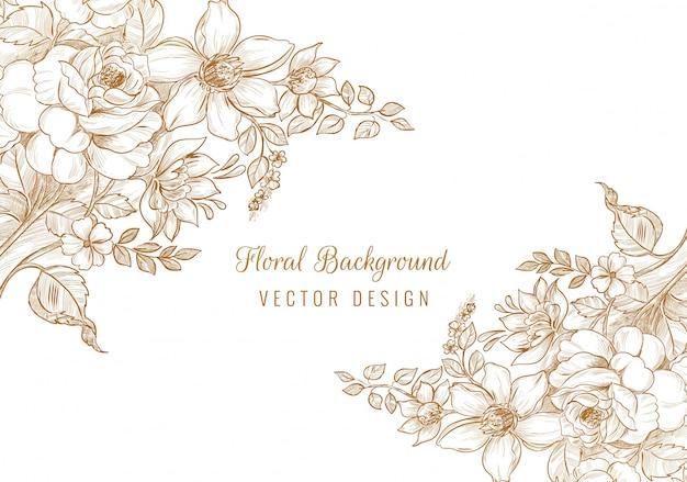 Hermoso fondo floral de boda decorativa