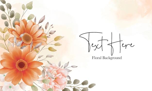 Hermoso fondo floral boho con flor marrón