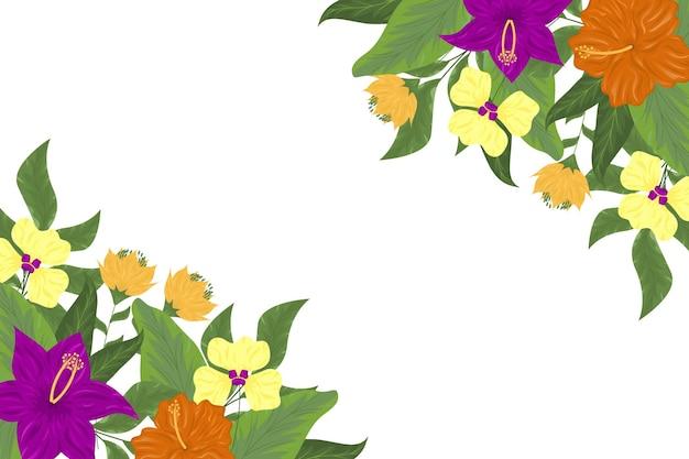 Hermoso fondo floral colorido