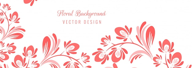 Hermoso fondo floral decorativo