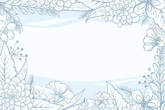 Hermoso fondo floral con espacio de copia