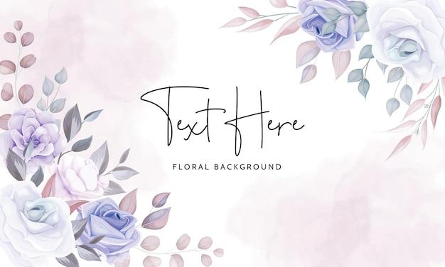 Hermoso fondo floral con flores de color púrpura suave