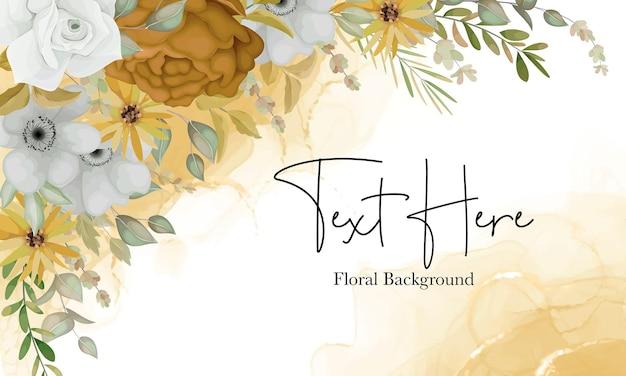 Hermoso fondo floral con flores de otoño