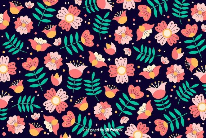 Hermoso fondo floral