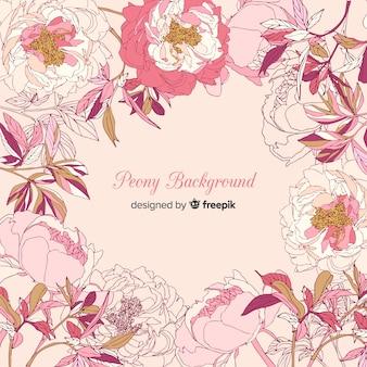 Hermoso fondo de flores peonía