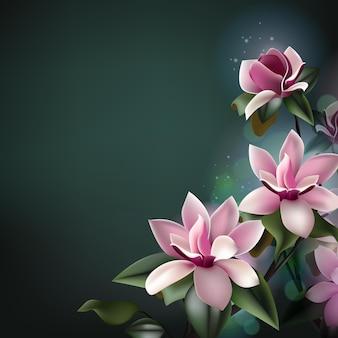 Hermoso fondo de flores de primavera con espacio de copia