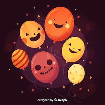 Hermoso fondo de globos de halloween