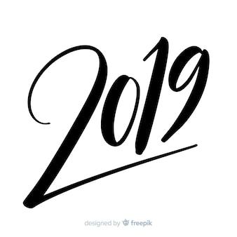 Hermoso fondo de lettering de 2019