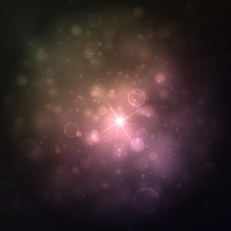Hermoso fondo de luces con muchos brillos.