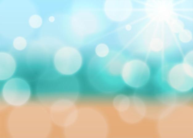 Hermoso fondo de luz bokeh con sensación de verano