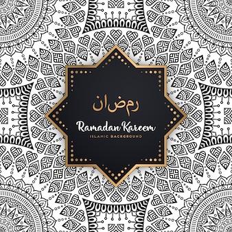 Hermoso fondo de mandala de ramadan kareem de patrones sin fisuras