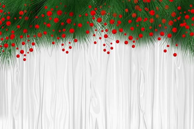 Hermoso fondo de navidad con adornos de hojas