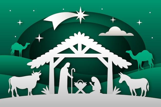 Hermoso fondo de navidad en diseño plano