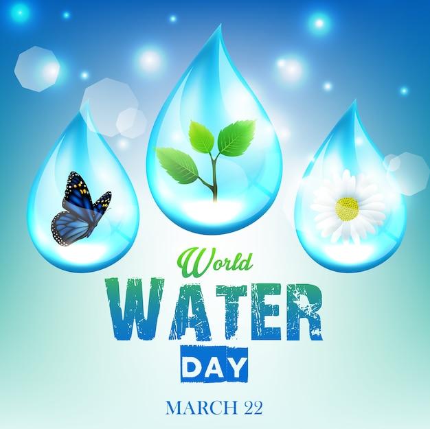 Hermoso fondo de ornamento para el día mundial del agua