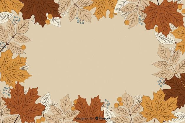 Hermoso fondo otoño vintage
