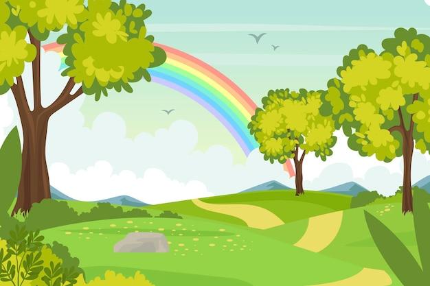 Hermoso fondo de pantalla de paisaje de primavera