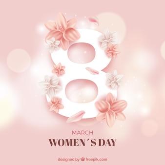 Hermoso fondo para el día de mujeres con el número 8