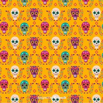 Hermoso fondo de patrón del día de muertos
