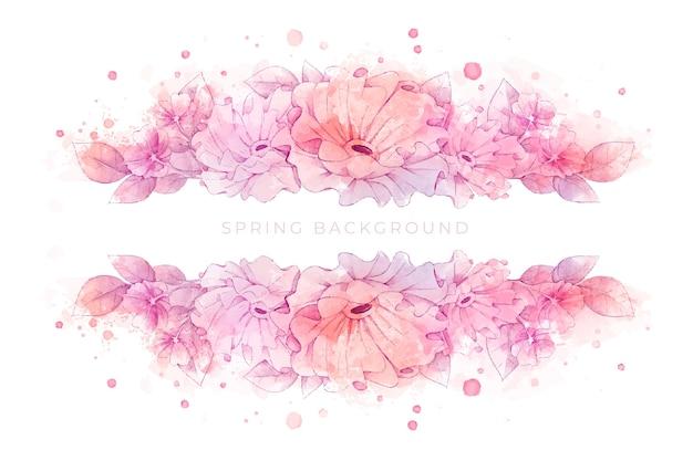 Hermoso fondo de primavera acuarela