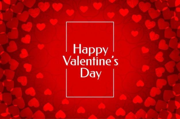 Hermoso fondo rojo corazones de san valentín