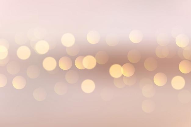 Hermoso fondo suave con luces circulares bokeh