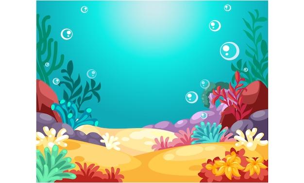 Hermoso fondo submarino