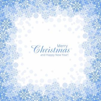 Hermoso fondo de tarjeta de copos de nieve de navidad