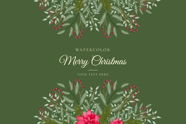 Hermoso fondo verde de navidad con árbol de navidad