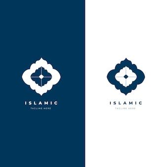 Hermoso logo islámico en dos colores.