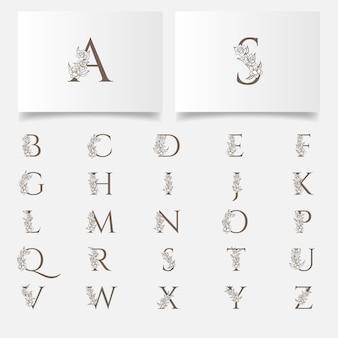 Hermoso logotipo de letras boho colecciones editables