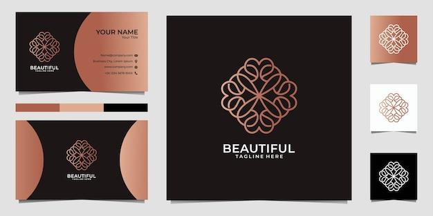 Hermoso mandala de arte lineal, se puede usar para spa, decoración, yoga, logotipo de moda y tarjetas de visita