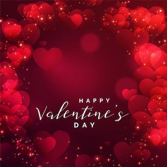 Hermoso marco de corazones para el día de san valentín