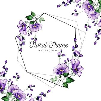 Hermoso marco floral acuarela