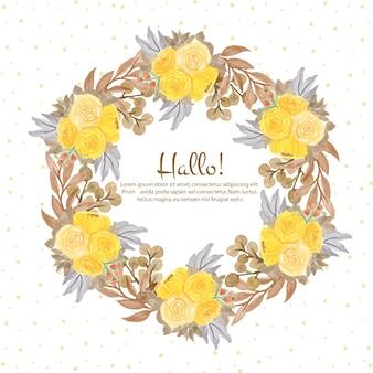 Hermoso marco floral de acuarela