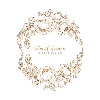 Hermoso marco floral decorativo