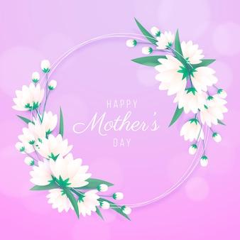 Hermoso marco floral para el día de la mujer.