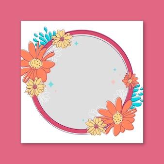 Hermoso marco floral para facebook