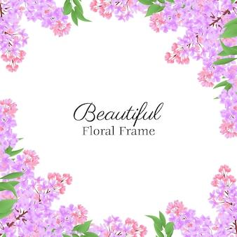 Hermoso marco floral con lila