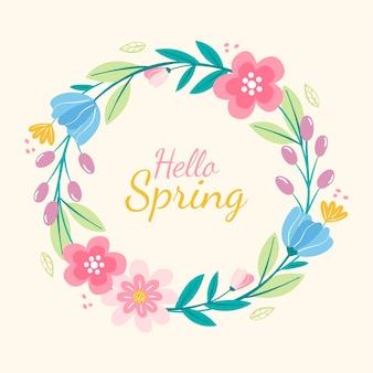 Hermoso marco floral primaveral