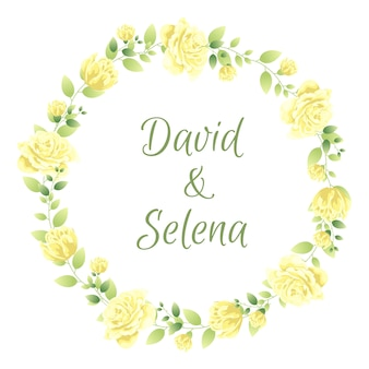 Hermoso marco de flores para boda