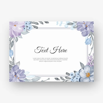 Hermoso marco de flores con color lila morado