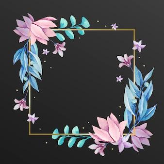 Hermoso marco con flores de invierno
